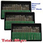 MTP Tm 60 Pcs Diamond Burr Bits