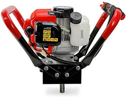 XtremepowerUS V-Type 55CC 2 Stroke Gas Post Hole Digger One Man Auger (55cc Engine Head)