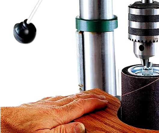 Drill press sanding drum