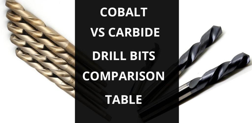 cobalt vs carbide drill bits