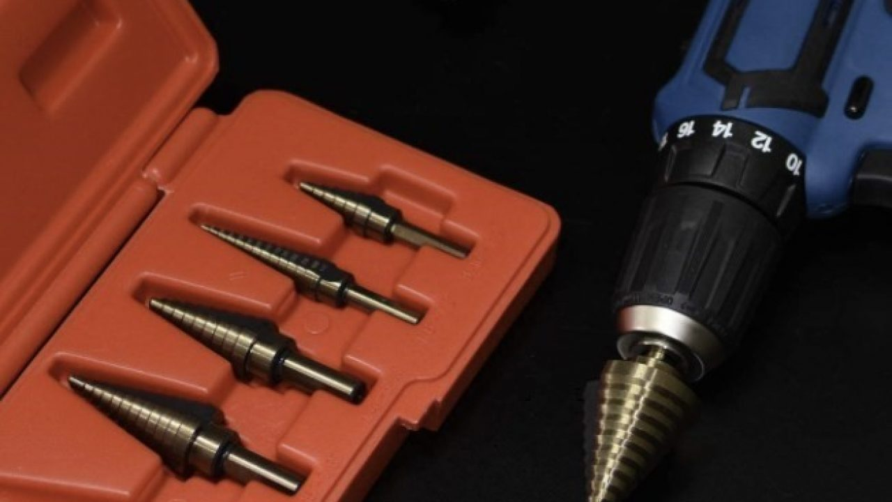 "/""LOOK/"" Brand New 3pc Metric Cone//Step Drill Set Titanium Coated  UK STOCK"
