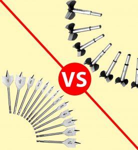 Forstner Bit vs Spade Bit