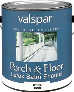 latex satin white deck paint
