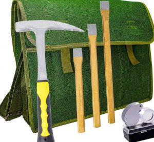 rock hammer and chisel
